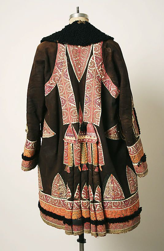 Coat Date: 1875–1925 Culture: probably Romanian Medium: leather, brass, cotton