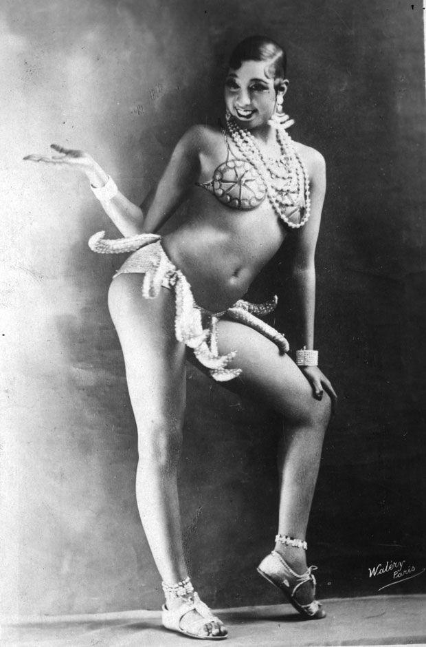 "Josephine Baker, in her famous ""Banana Dance"" costume. Paris 1920s"