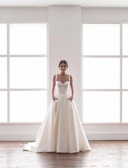 Robe de mariée avec des poches