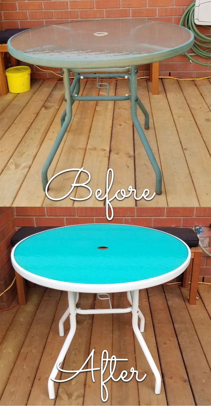 Diy glass patio table makeover from blah to wow in no