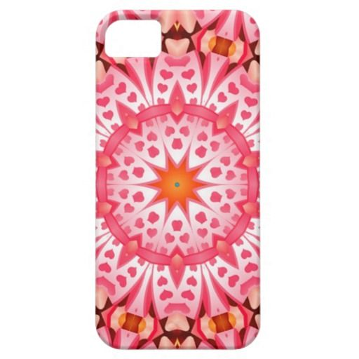 Pink heart pattern iPhone 5/5S case