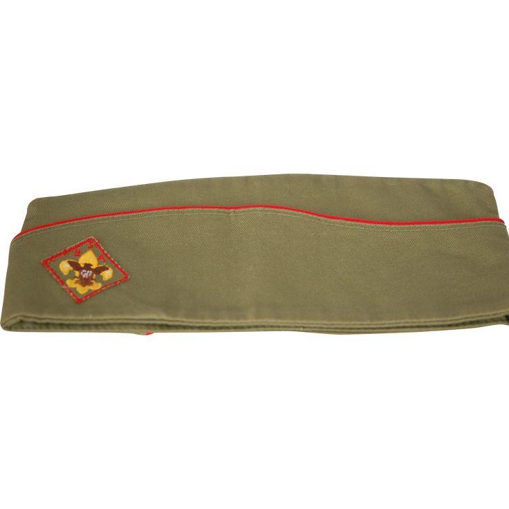Vintage 1930-60 New Boy Scout Garrison Uniform Hat  www.rubylane.com #vintagebeginshere