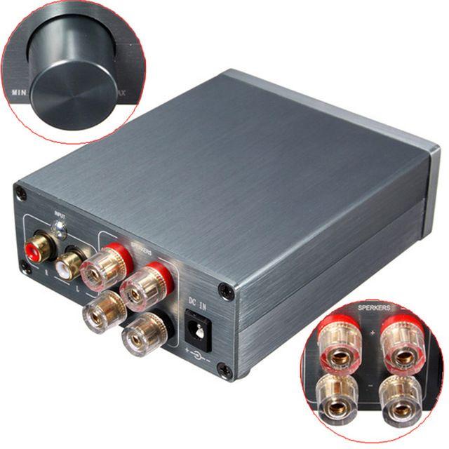 2016 Breeze Audio HiFi Class 2.0 Audio Stereo Digital Power Amplifier TPA3116 Advanced 50W+50W Mini Home Aluminum Enclosure amp