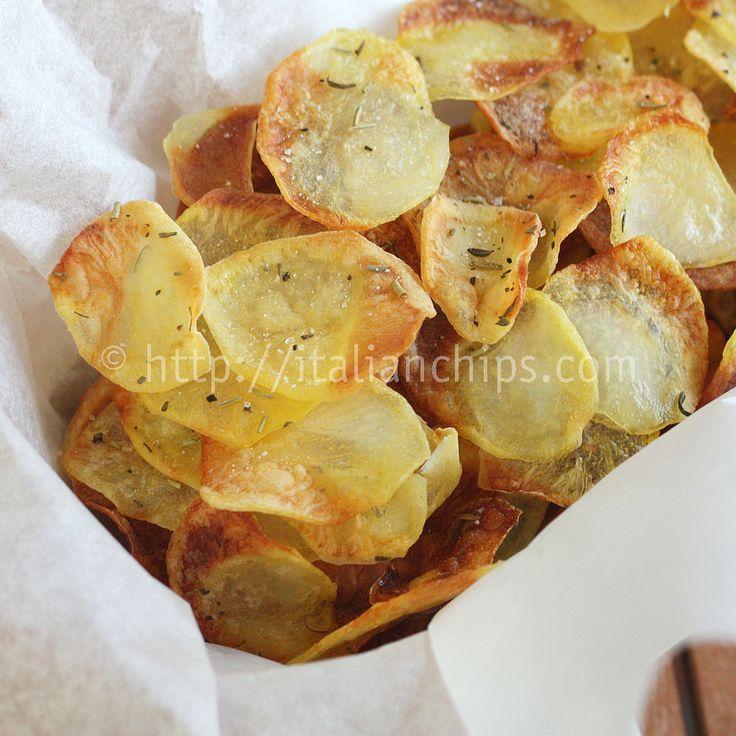 Patatine Chips Leggere Leggere