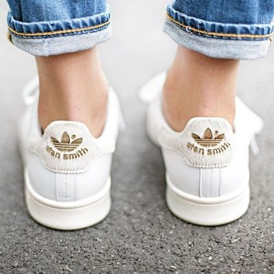 stan smith blanche et or femme