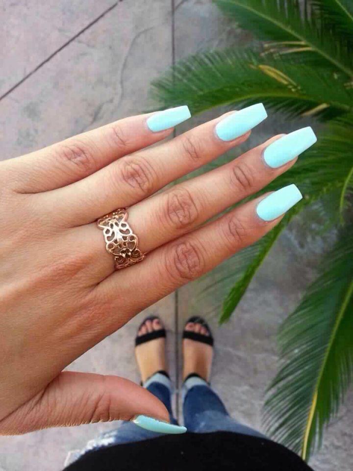 Neon sky blue