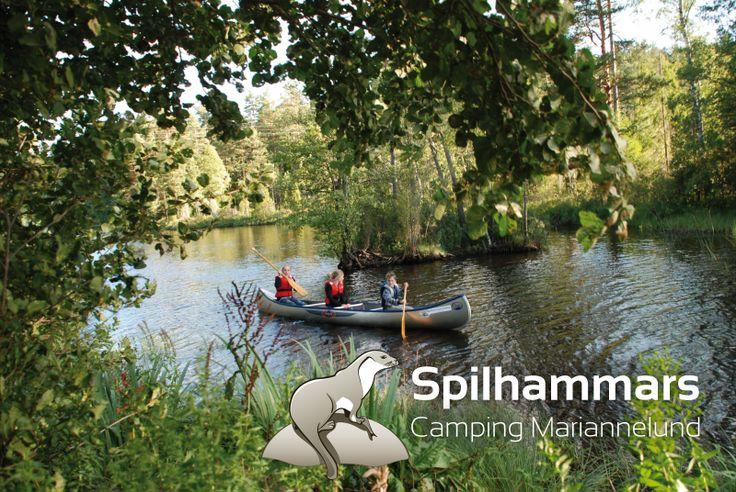 Hyra en kanot eller båt  / Huur een kano of een roeiboot bij Spilhammars camping
