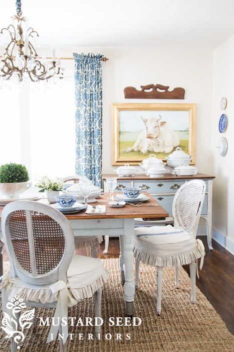 My House French Country DiningBlue PlatesMiss Mustard SeedsBlue RoomsFarmhouse