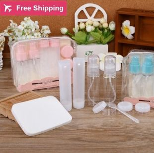 11.11$  Buy here - http://ali0ig.shopchina.info/go.php?t=32697769104 - Travel portable cosmetics packing bottle suit/travel wash gargle suit/emulsion packing bottle suit 9 sets of package  #buyonline