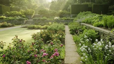 The terraced gardens at Castle Drogo are perfect for a stroll © National Trust