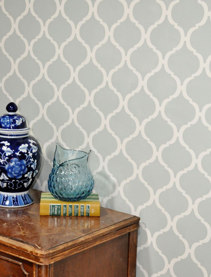 Moroccan Wall Stencil by cutestencils on etsy. I want this for my dining room--color and everything.