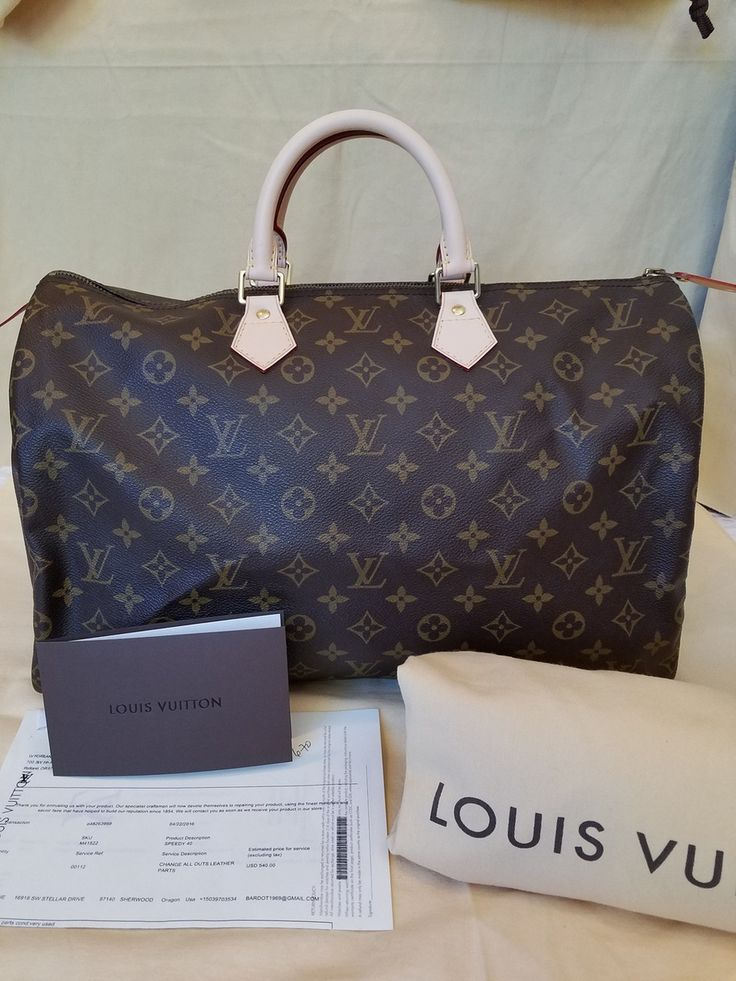 COMPLETELY RESTORED Vintage Authentic Louis Vuitton Speedy 40 MB8909 - The Luxe Boutique