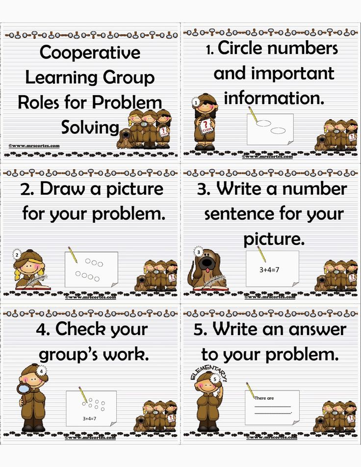 Collaborative Teaching Esl ~ Cooperative learning group roles in problem solving