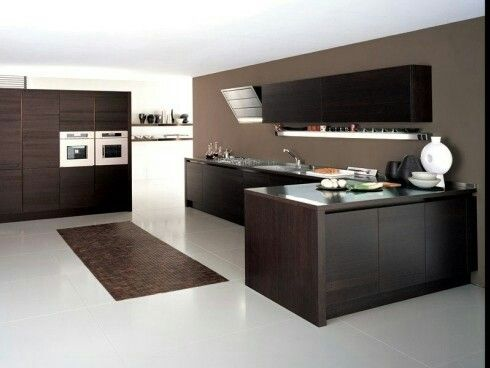 Modern Wood Kitchen - Cucina Moderna in legno wenge.  Best of Interior Desig...