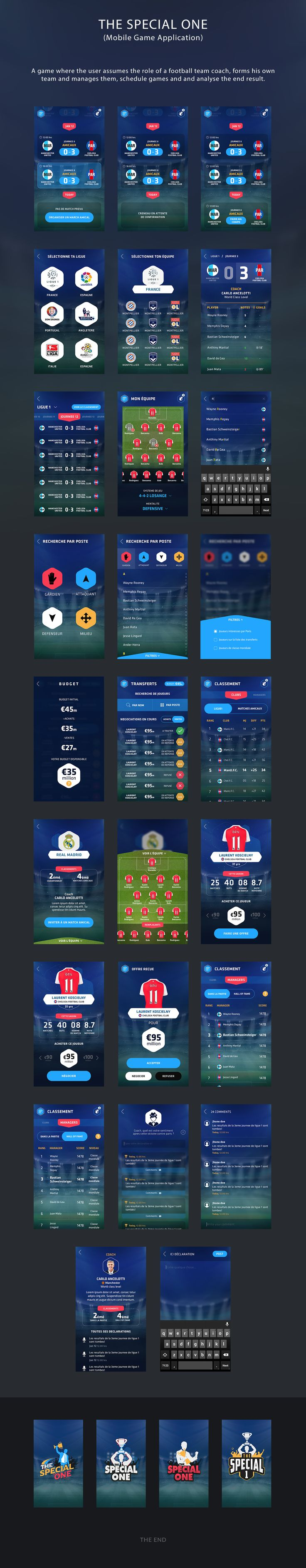 The special one is a fantasy football game concept based on existing games like football Manager.