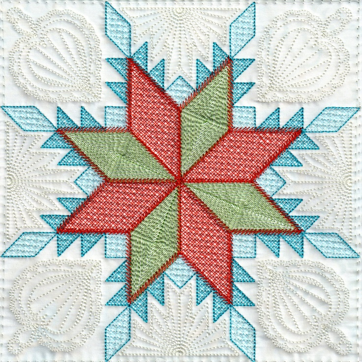 9 best images about Feathered Star, EmbroidaBlock of the ...
