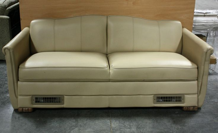 USED RV ULTRA LEATHER JACK KNIFE SLEEPER SOFA FOR SALE