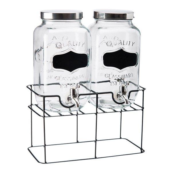 Blanda en god lemonad och låt gästerna ta för sig själva ur denna glasbehållare från Dorre.