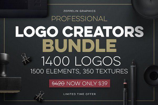 Logo Creators Megabundle + BONUS by Zeppelin Graphics on @creativemarket