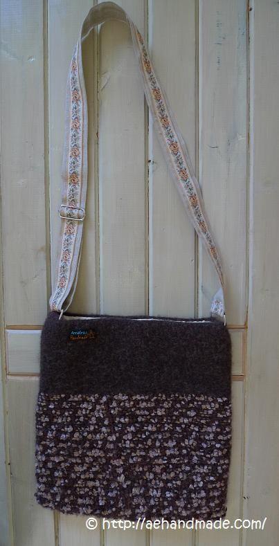 Virka och tova en väska