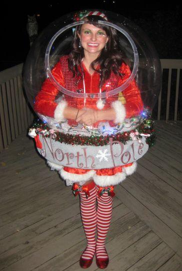 Original Snow Globe Costume That Really Snows