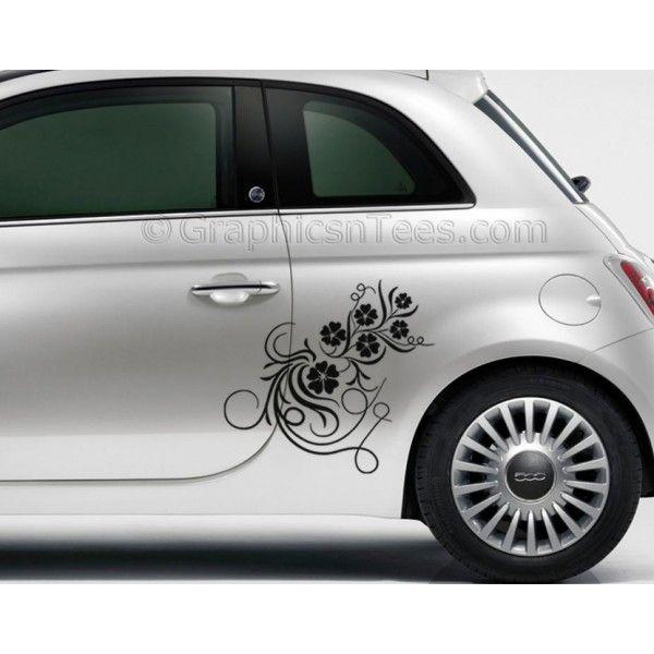 Best Fiat E Images On Pinterest Yeti Stickers Car Decals - Vinyl decals carbest vinyl cutting designs images on pinterest vinyl decals