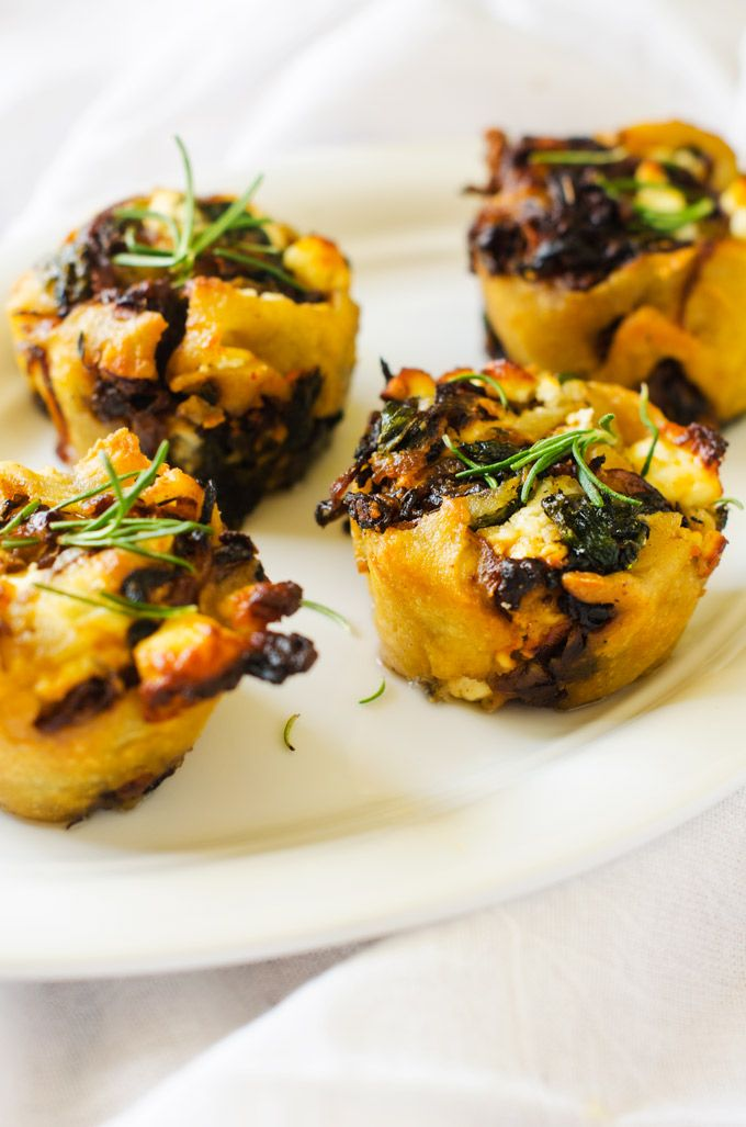 Gluten Free Caramelized Onion, Spinach & Goat Cheese Rolls with Quinoa ...