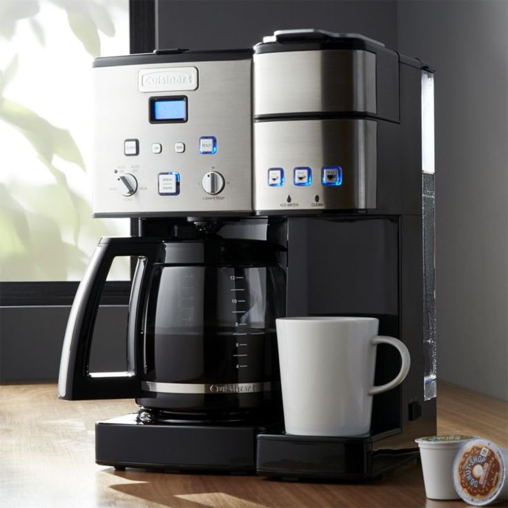 Free Shipping.  Shop Cuisinart ® Combination K-cup/Carafe Coffee Maker.  Whether sipping solo or serving a crowd, you'll always get a perfect cup of coffee with this dual-purpose coffee maker.