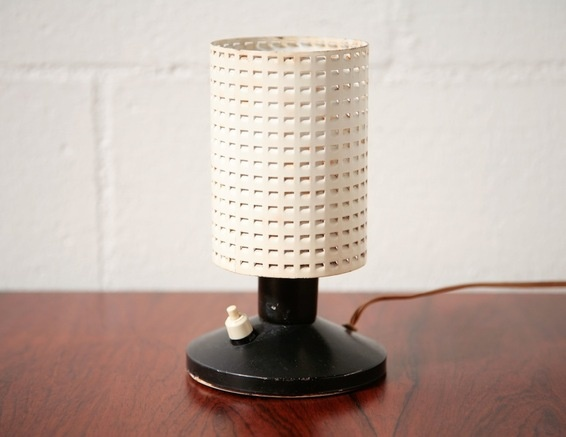 Mategot style perforated table lamp (Hala Zeist)