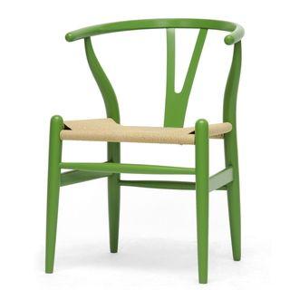 travel wallets MidCentury Modern Green Wood Y Wishbone Chair