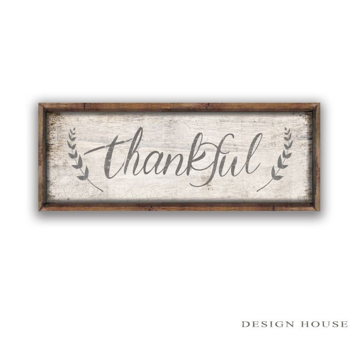 "Thankful wooden sign 19.25""x8""x2""Thanksgiving sign Inspirational signs Inspirational quotes Family signs Fall decor Thanksgiving decor by DesignHouseDecor on Etsy https://www.etsy.com/listing/456042134/thankful-wooden-sign"