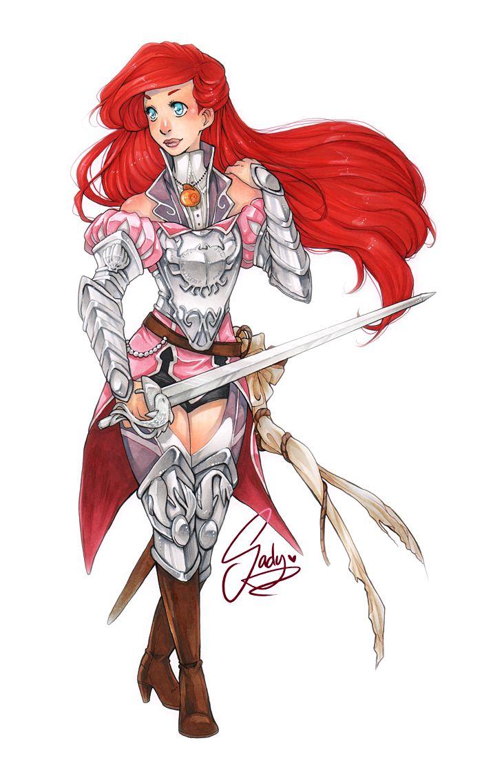 """Silent Warrior"" - Disney Princesses Reimagined as Medieval Warriors — GeekTyrant"