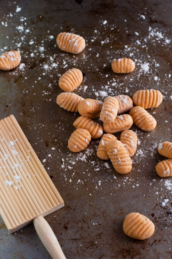 Homemade gnocchi! Just 3 ingredients -- sweet potatoes, an egg, and gluten-free flour (use quinoa flour for Phase 3). Great with a simple pasta sauce or ratatouille.