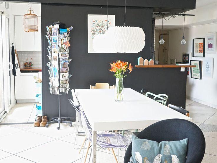 Un Appart Qui Mixe Deco Vintage Et Style Scandinave Deco Vintage Deco Mur Gris