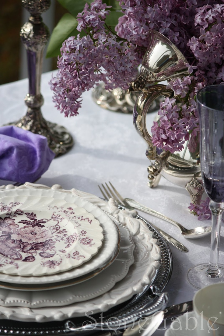 purple and lilac table