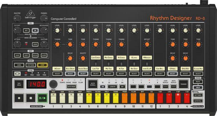 Behringer Rhythm Designer Rd 8 Analog Drum Machine Drum Machine Music Machine Design