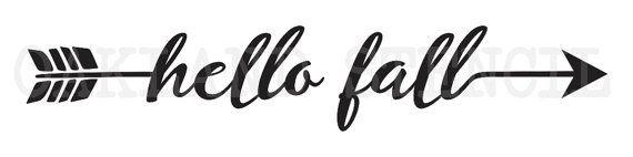 Caída de acción de gracias plantilla  Hola caída por OaklandStencil