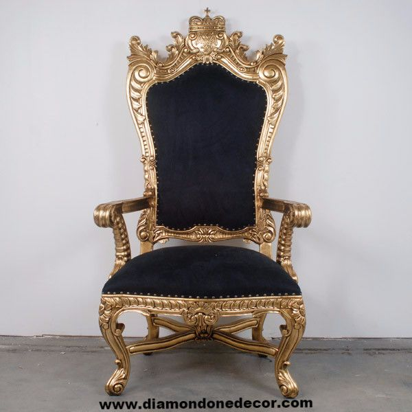 Pirate's King Regency Style French Reproduction Throne Chair
