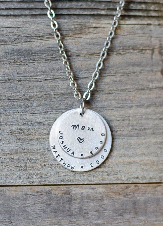 Personalized Mom Necklace with Kids Names, Custom Jewelry for Mom, Children's Names Necklace, Mother