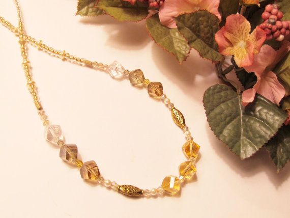Crystal Sunshine Necklace by RomanticThoughts on Etsy, $33.95