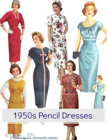 e437b394bb97 1950s Sheath Dresses  The Subtle Variations