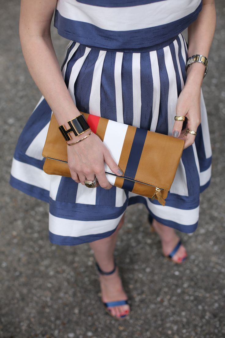 Adorable accessories for spring // @Blair R Eadie // Atlantic Pacific #streetstyle #stripes