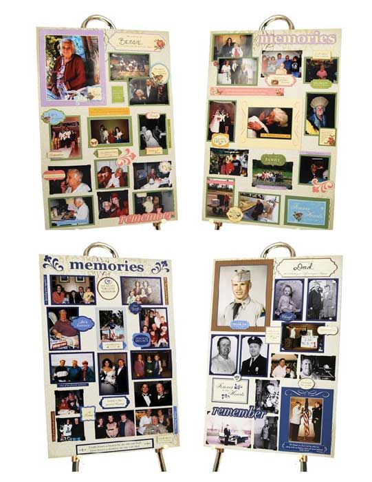 Get all these images to make professional looking memorial boards for only $19.95 #memorial #funeral #posterboards #scrapbooking