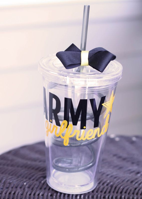 Personalized Army girlfriend tumbler