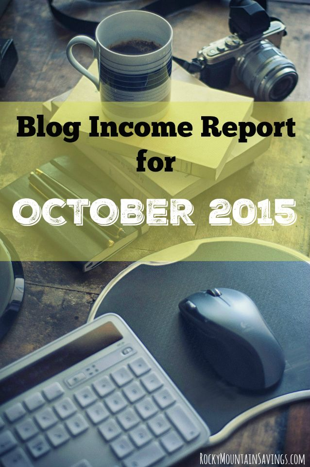 Blog Income Report October 2015