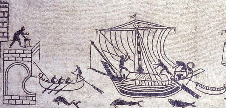Rimini, mosaico di una domus, in opus tessellatum, appartenente a un grande armatore