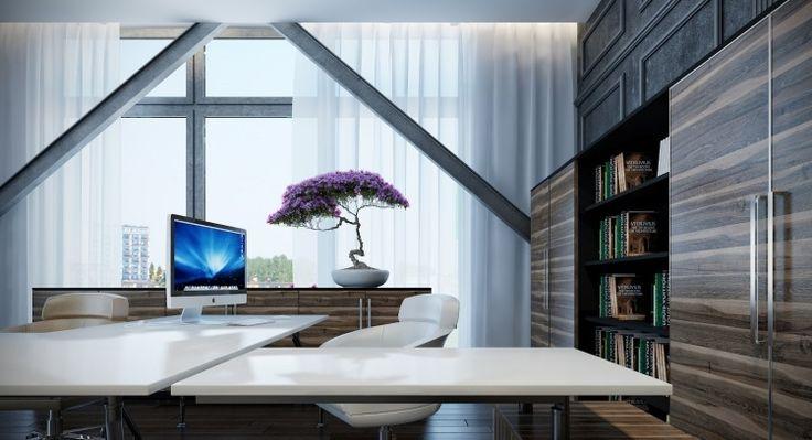 mobilier de bureau à domicile avec armoires très pratiques
