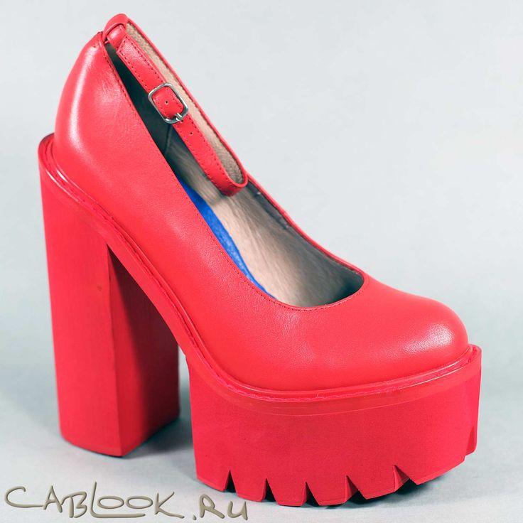 Jeffrey Campbell SCULLY 2 красные туфли женские купить в магазине CabLOOK.ru
