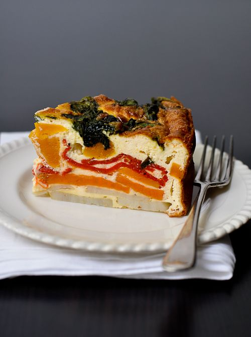 roasted vegetable cake with ricotta...pinned by www.pikeletworkshop.com