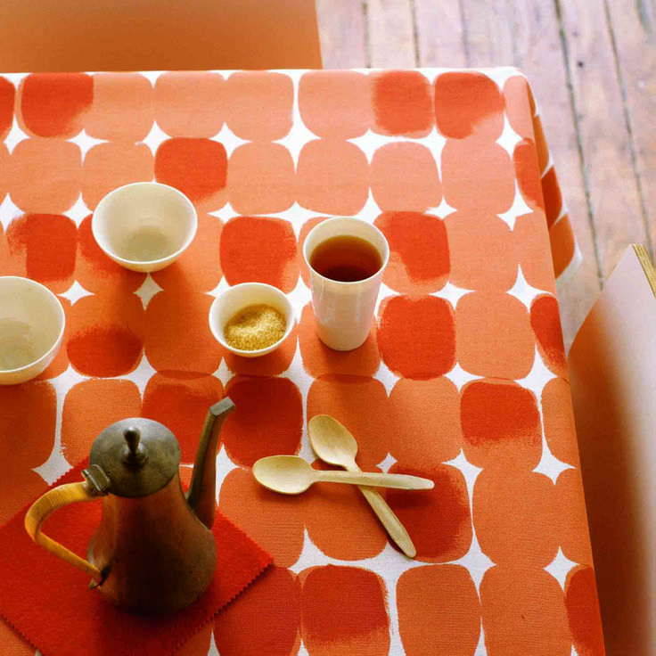 Stoney Tangerine tablecloth by ClothFabric.